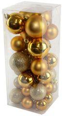 Seizis set božićnih kuglica, zlatne, 40 kom