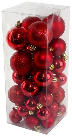 Seizis Set vianočných gulí červené 40 ks