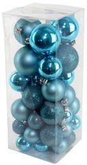 Seizis Set vianočných gulí modré 40 ks