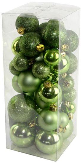Seizis Set vianočných gulí zelené 40 ks
