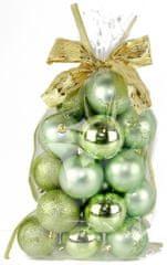 Seizis Sada gulí s dekorom v sáčku zelené 20 ks