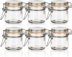 Banquet Szklany pojemnik hermetyczny LINA 100 ml 6 sztuk