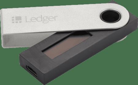 Ledger Nano S denarnica za Bitcoin in druge kriptovalute, siva