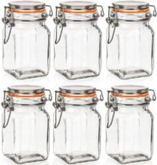 Banquet Szklany pojemnik hermetyczny LINA 250 ml 6 sztuk