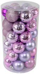 Seizis Sada vianočných gulí ružovo-fialová 41 ks