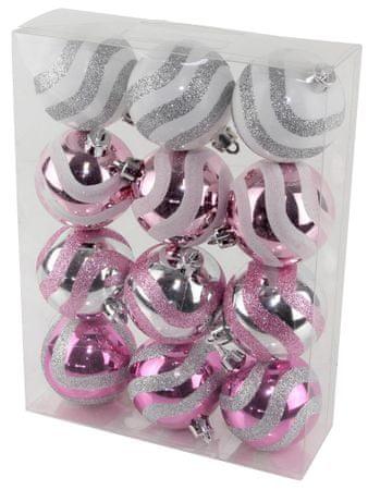 Seizis Vianočné gule s dekorom 12 ks