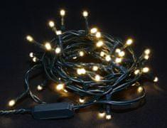 Seizis lampki świąteczne 50 LED, 8 funkcji, jasny biały