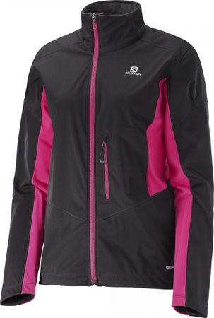 Salomon ženska softshell jakna Lightning, rjava/roza, L