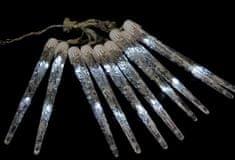 Seizis 10 LED kapajících rampouchů