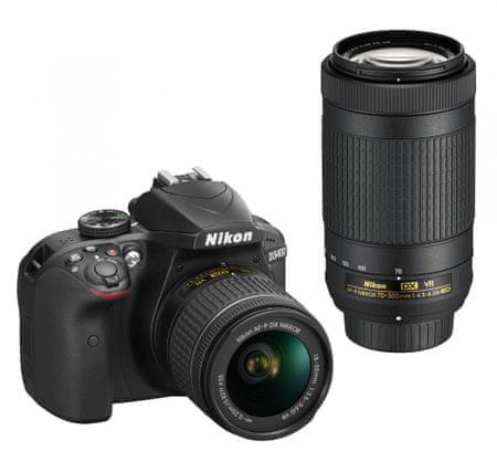 Nikon lustrzanka D3400 + AF-P 18-55 VR + 70-300 VR