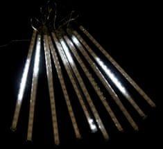 Seizis 10 LED kvapkajúcich trubíc, 20 cm, vonkajšie biele