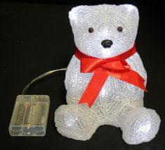 Seizis ozdoba świąteczna LED, biały niedźwiedź