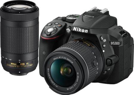 Nikon lustrzanka D5300 + 18-55 AF-P VR + 70-300 VR