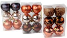 Seizis zestaw bombek choinkowych z dekoracją 3x6 szt.
