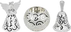 Seizis Sada skleněných dekorací 3 ks, dekor spirály