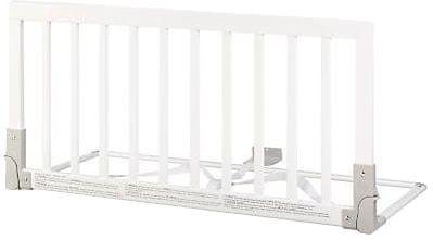 Babydan Barierka Do łóżka Drewniana Biała 45x90cm