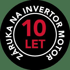 10letá záruka na invertorový motor