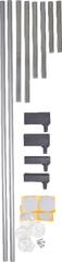 BabyDan 2 prodloužení á 7cm NEW kov stříbrná (černé kování)