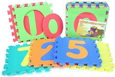 Teddies BABY Penové puzzle Číslice 32x32cm