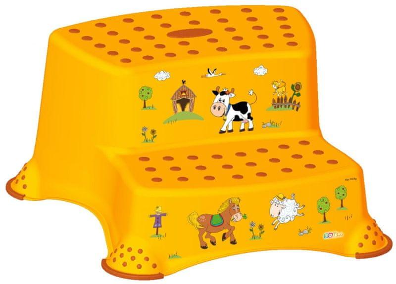 Funy Farm Baby Step Stool Orange