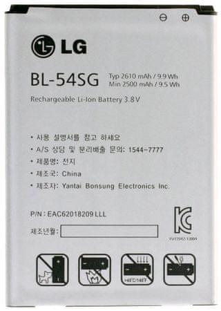 LG baterie, BL-54SG, 2610mAh, Li-Ion, BULK