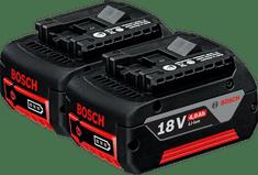Bosch komplet 2 x akumulatorska baterija GBA 18 V 4,0 Ah M-C (1600Z00042)