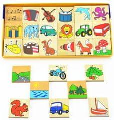DETOA Čo kam patrí? 36 drevených kociek