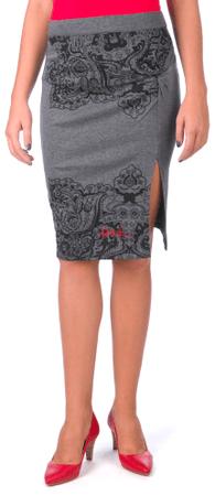 Desigual dámská sukně XL sivá