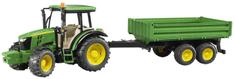 BRUDER 2108 Traktor John Deere 5115M z przyczepą