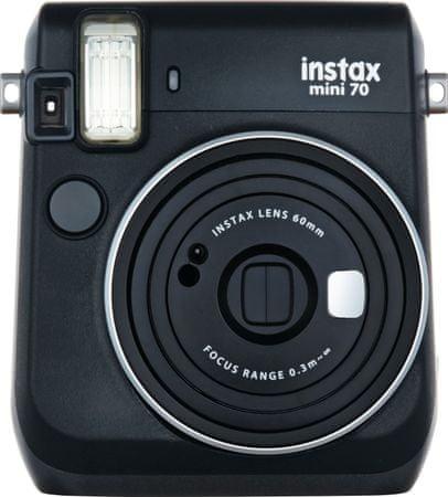 FujiFilm fotoaparat Instax Mini 70, črn