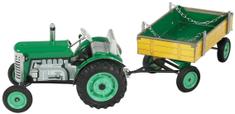 KOVAP Traktor Zetor s prívesom na kľúčik zelený