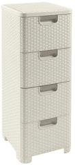 CURVER komoda Rattan Style, 4 x 14 l