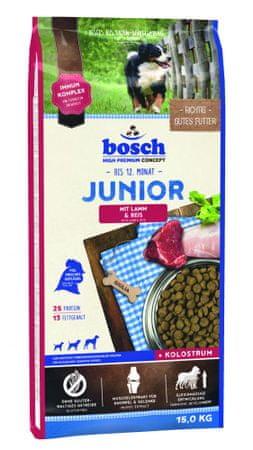 Bosch Junior Kutyatáp bárányhússal és rizzsel, 15kg