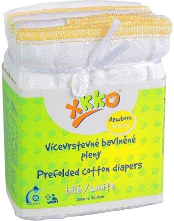 XKKO Skladané bavlnené plienky Biela - Newborn