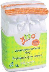 XKKO Skladané bavlnené plienky - Infant (6ks)