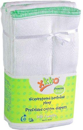 XKKO Skladané bavlnené plienky Biela - Premium