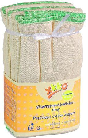 XKKO Skladané bavlnené plienky Natural - Premium
