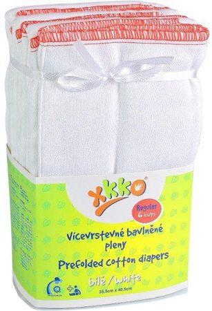 XKKO Skladané bavlnené plienky Biela - Regular