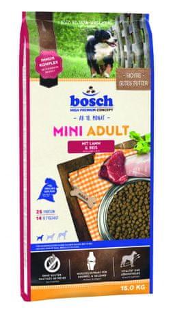 Bosch hrana za odrasle pse majhnih pasem, jagnjetina in riž, 15 kg (nova receptura)