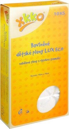 XKKO Bavlnené plienky LUX ECO 70x70 cm -10 ks
