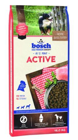 Bosch hrana za aktivne odrasle pse Active, 15 kg (nova receptura)