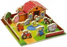 Teddies Domeček dřevěná farma Moje první zvířátka