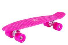Hudora retro skateboard, roza