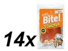 Brit przysmak dla psa Lets Bite Fillet o'Chicken 14x80 g