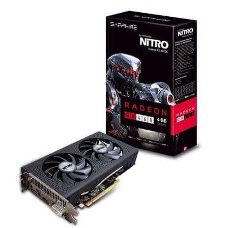 Sapphire grafična kartica RX 460 4GB DDR5 PCI-E NITRO OC LITE