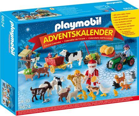 Playmobil 6624 Adventi naptár, Kisállatok karácsonya