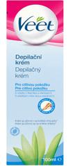 Veet depilacijska krema za občutljivo kožo, 100 ml