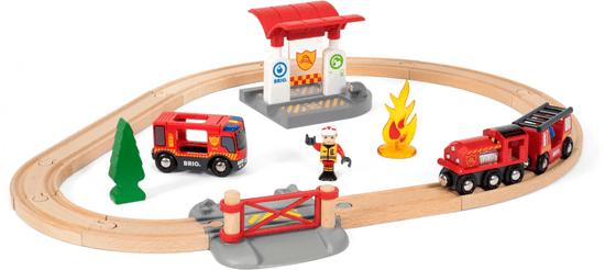 Brio Záchranárska vláčikodráha hasiči