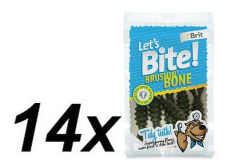 Brit przysmak dla psa Lets Bite Brushin' Bone 14x90 g