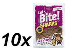 Brit przysmak dla psa Lets Bite Sharks 10x150 g